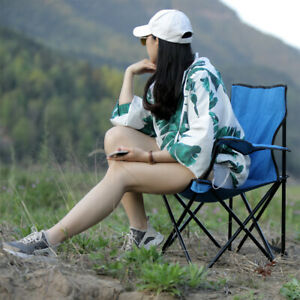 Folding Camping Chair Portable Fishing Beach Outdoor Garden Chairs