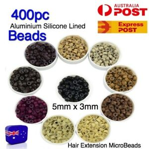 Hair Extension Micro Beads Rings 400 x 5mm Silicone Lined MicroBeads Accessories