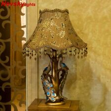 Table Lamp Desk European Style Living Room Peacock Stand