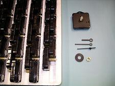50 x Quartz Clock Movement kits LONG SHAFT 50mm black plastic hand sets