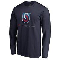 Fanatics Branded US Speedskating Navy Primary Logo Long Sleeve T-Shirt