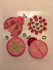 Jolee's Boutique Dimensional Stickers - Ladybugs and Flowers 7 Pcs Scrapbooking