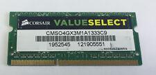 Laptop Memory/Ram CORSAIR VALUE SELECT 4GB DDR3-1333 CMSO4GX3M1A1333C9 SODIMM