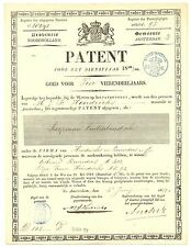 NEDERLAND 1859 PATENT DOC. AMSTERDAM  FISKAAL ST  - 25 C. NOORD-HOLLAND -  Z. FR