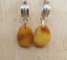 NATURAL BALTIC AMBER STERLING SILVER 925 Earrings