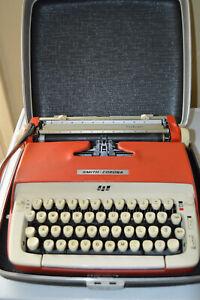 Vintage RED Smith Corona Galaxie Manual Typewriter Portable Case 6T 318691