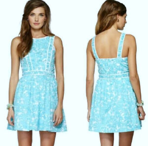 Lilly Pulitzer Women's Size 4 Blue Becky Shorely Dress 68483