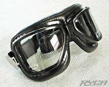 Motorcycle Goggles Black Cafe Racer Bobber Tracker Scrambler Ryca Motors
