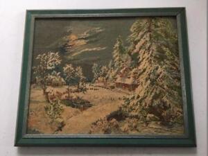 "Original Wiehler Gobelin  ""Winternacht"""