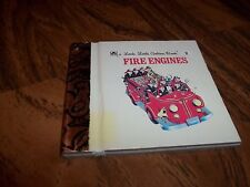 A LITTLE LITTLE GOLDEN BOOK FIRE ENGINES 1st PRINTING ILL. BY TIBOR GERGELY (FN)