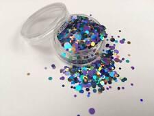 Mezcla de brillo hermoso arte en Uñas Acrílico y Gel Violeta sorpresa para aplicaciones