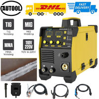110V 220V Digital Welding Machine TIG MIG MMA Welder Flux Core Gasless Inverter