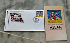 ASEAN FDC Malaysia 2015 Komuniti Community 10 countries 1v stamp with brochure