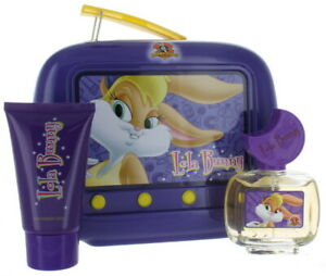 CS LOONEY TUNES LOLA BUNNY FIRST AMERICAN BRANDS SET IN PURPLE TIN LUNCH BOX