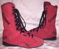 Mens Size 6.5 Womens 8 OTOMIX Red Suede Wrestling Boxing MMA Sneakers Boots