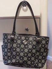 owned ND Imitation leather Large Handbag, with decoration figures, Black