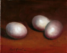 Eggs 8x10 in. Original Oil on stretched canvas  HALL GROAT II