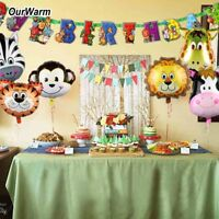 Safari Jungle Animal Theme Party Banner & Balloon Kids Birthday Party Decoration