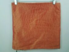 Pier 1 Imports Throw Pillow Cover Orange Taffeta Stitched Embroidered Zipper