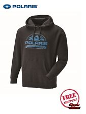 POLARIS MEN'S ROSEAU HOODIE CHARCOAL HEATHER SWEAT SHIRT PULLOVER RZR RMK INDY