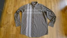 Lacoste checked men's brown long sleeve shirt size 45