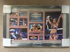 WWE Wrestlemania 33 Commemorative Plaque Signed by Bayley