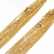 Halskette 2 mm 999er Gold 24 Karat vergoldet Damen Herren gelbgold K2862L