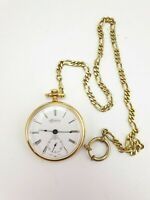 Vintage Rodania Pocketwatch Gold Plated 17 Jewels Swiss Made NOT running