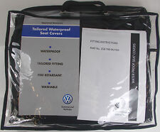 VW Transporter T6 California solo Trasera Impermeable Negro Funda De Asiento Set