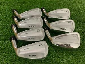 """ERG V3 Forged Iron set 4-PW Heads Only .370"""" Golf Clubs"""