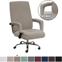 High Stretch Spandex Office Chair Cover Swivel Seat Slipcovers with Arm Covers