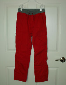 Boy's Hanna Andersson Double Knee Jersey Lined Cargo Pants Hanna Red 150/12
