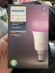 Philips Hue Bulb B22 White And Colour Brand New Free Postage