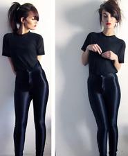 American Apparel Disco Pants Skinny Shiny Midnight Navy - Size XXS -NWT