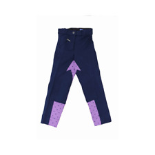 Sherwood Childrens Falabella Jodhpurs - Navy/Lavender