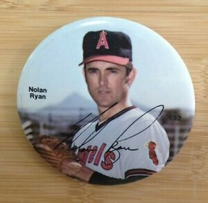 Nolan Ryan 132 Button Los Angeles Angles
