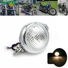 Retro Bates Headlights Old School Headlamp For Harley Cafe Racer Motorcycle