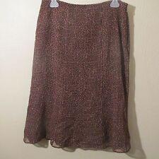 Womens 10 Brown Plaid Lined Skirt Wool Modest Church Career