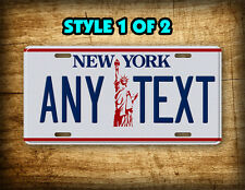 New York Liberty License Plate Personalized Statue of Liberty Auto Tag Vintage