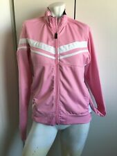 Womens BREAST CANCER ribbon Brooks Full Zip Jacket Size Large Running pink