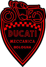 "#z2022 (1) 3"" Ducati Meccanica Racing Classic Vintage Decal Sticker LAMINATED"