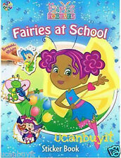 16pg FAIRIES AT SCHOOL Reusable Activity Sticker Book OVER 50 Stickers Ages 5+