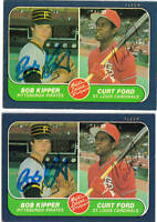 1986 FLEER #648 SIGNED BOB KIPPER & CURT FORD JSA AUTO