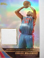2004 TOPPS BASKETBALL GAME JERSEY CORLISS WILLIAMSON  PISTONS  JE-CWI   BX54