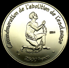 2007 IVORY COAST .999 Pur Silver 2500 Francs SCARCE ESSAI Coin ONLY 850 PIECES!