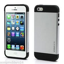 étui Silver Silver pour iPhone 5 / 5 S Armure Tpu En polycarbonate Slim Coque