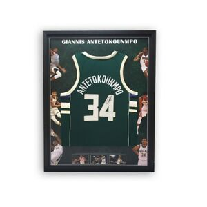 Giannis Antetokounmpo Facsimile Signed Jersey - Framed