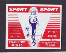 Ancienne étiquette Bière Alcool France BN38838 Sport Brasserie Denis