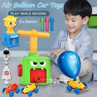 Inertia Kids Balloon Powered Car Toys Fun Aerodynamics + Launcher Rocket Set
