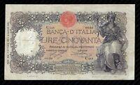 50 Lire Tipo Capranesi - Buoi - Vittorio Emanuele III  R2   4 Ottobre 1918